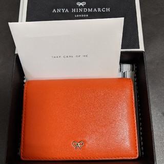 アニヤハインドマーチ(ANYA HINDMARCH)のアニヤハインドマーチ カードケース オレンジ(名刺入れ/定期入れ)