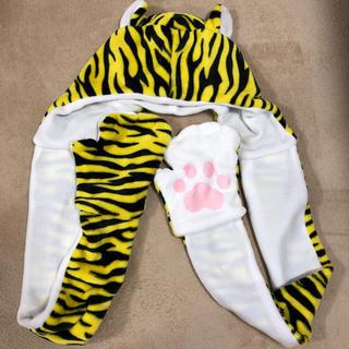 ハンシンタイガース(阪神タイガース)の阪神タイガース 虎ウィン マフラー手袋(応援グッズ)