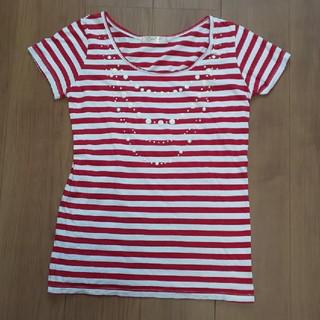 赤白ボーダー T シャツ(Tシャツ(半袖/袖なし))