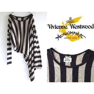 ヴィヴィアンウエストウッド(Vivienne Westwood)の希少 ヴィヴィアンウエストウッド アングロマニア 変形ボーダーニット(ニット/セーター)