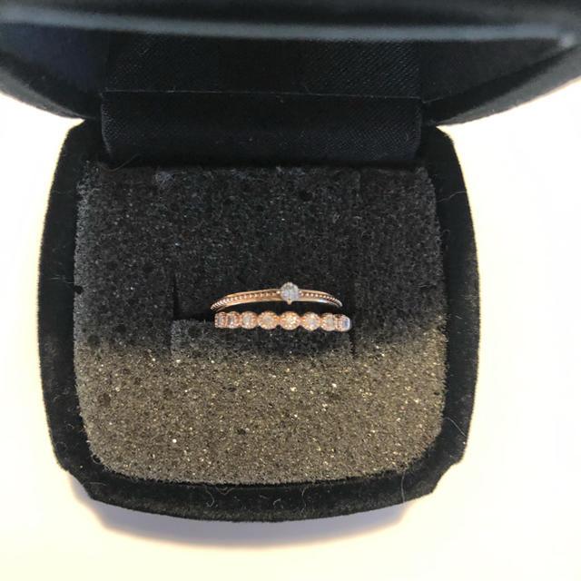agete(アガット)のアガット ピンキーリング 01号 2本セット レディースのアクセサリー(リング(指輪))の商品写真