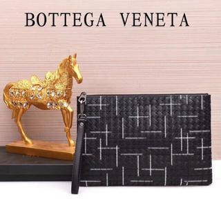 ボッテガヴェネタ(Bottega Veneta)のボッテガヴェネタメンズセカンドバッグクラッチバッグ編み込みブラック(セカンドバッグ/クラッチバッグ)