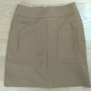 イネド(INED)の【SALE】イネド タイトスカート キャメル 9号(ミニスカート)