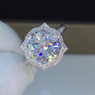 「3カラット 」高級モアサナイト ダイヤモンド リング(リング(指輪))