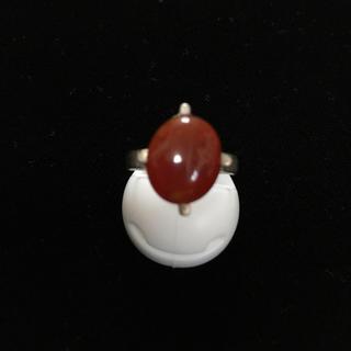赤メノウ、シルバーリング(リング(指輪))