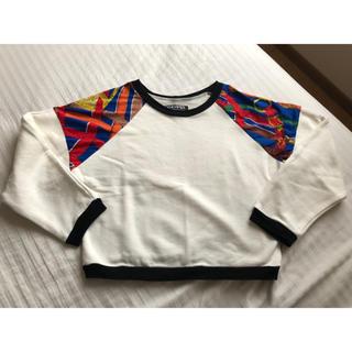 フィグアンドヴァイパー(FIG&VIPER)のスカーフ柄プルオーバー(カットソー(長袖/七分))