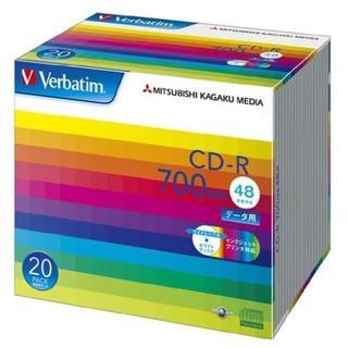 三菱ケミカルメディア Verbatim 1回記録用 CD-R SR80SP20V(DVDプレーヤー)