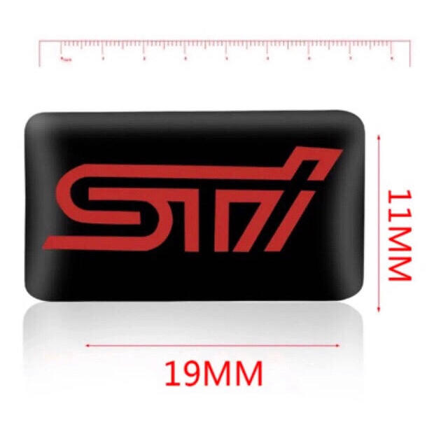 スバル(スバル)の【新品】SUBARU スバル STIロゴ 3Dエンブレム   10枚セット!  自動車/バイクの自動車(車外アクセサリ)の商品写真