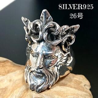 3711 SILVER925 超重厚★イエスキリストリング26号 ROCK ゴス(リング(指輪))