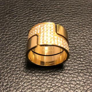 ディンヴァン(dinh van)のdinh van k18YGダイヤリング カルティエ出身デザイナー(リング(指輪))