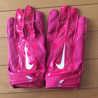 ナイキ(NIKE)のNIKE VAPOR JET 3.0 FOOTBALL GLOVES ピンク(アメリカンフットボール)
