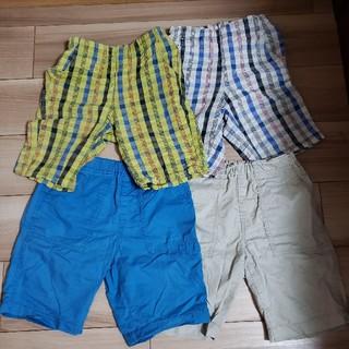 ジーユー(GU)の子供用ハーフパンツ 4枚セット(パンツ/スパッツ)