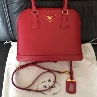 9a51e5b07038 プラダ(PRADA)の新品未使用プラダサフィアーノレザートートショルダーハンドバッグ 赤 レッド