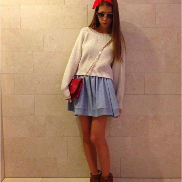 snidel(スナイデル)のsnidel  裏毛ボリュームスカート レディースのスカート(ミニスカート)の商品写真