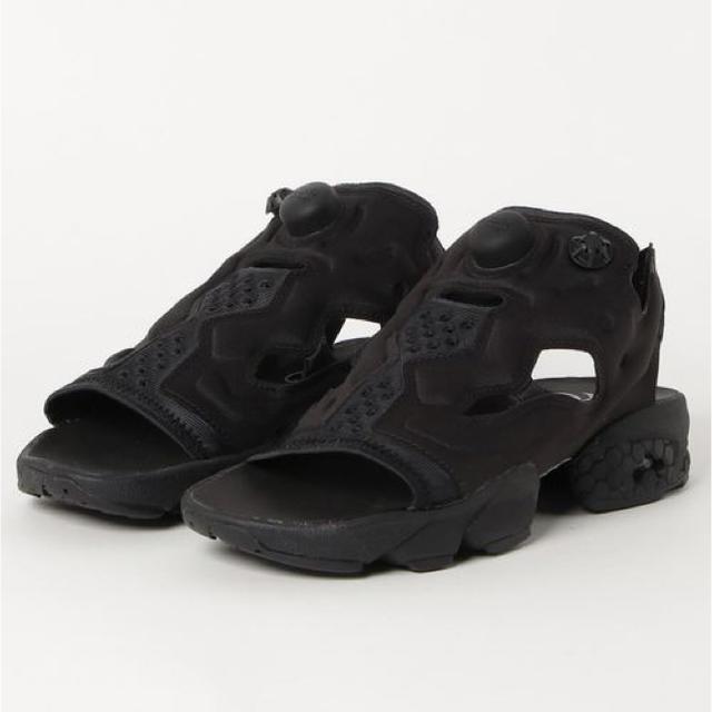 Men 10Us Reebok All nero Insta Pump Fury Sandals