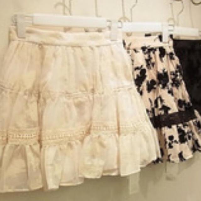 snidel(スナイデル)のsnidel  ボタニカルフロッキースカート レディースのスカート(ミニスカート)の商品写真