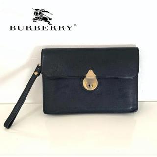 バーバリー(BURBERRY)のburberry  バーバリー クラッチバッグ セカンドバッグ 鍵 本革 レザー(クラッチバッグ)