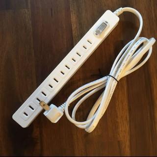 イケア(IKEA)の【新品/送料込み】イケア 電源タップ ホワイト 6口(変圧器/アダプター)