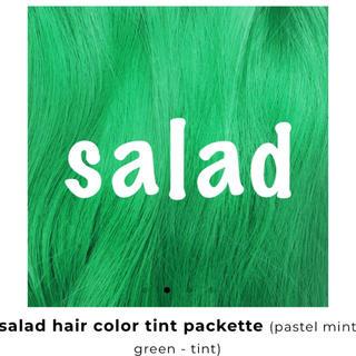 ライムクライム(Lime Crime)のLimeCrime ユニコーンヘアー      salad 15mlパック×2(カラーリング剤)