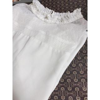 シマムラ(しまむら)のフリルネックシャツ(シャツ/ブラウス(長袖/七分))