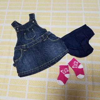 オールドネイビー(Old Navy)のOLD NAVY☆ジャンパースカートセット&未使用靴下(スカート)