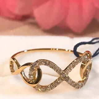 k18 18金 インフィニティ ダイヤモンド リング(リング(指輪))