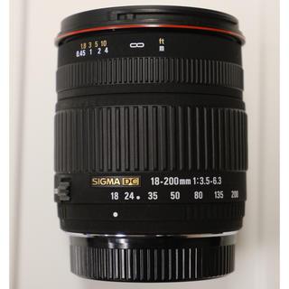 シグマ(SIGMA)のSIGMA 18-200mm F3.5-6.3 DC PENTAX用(レンズ(ズーム))