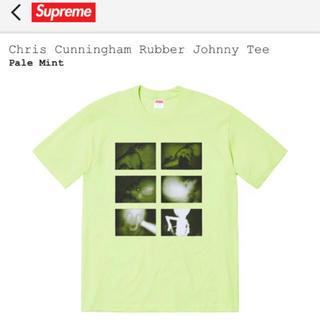 シュプリーム(Supreme)の【新品L】Supreme Chris Rubber Johnny Tee 黄緑(Tシャツ/カットソー(半袖/袖なし))