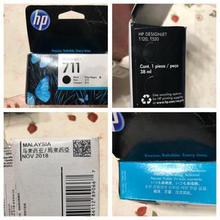 ヒューレットパッカード(HP)の純正品 HP 711 インクカートリッジ 4本セット 消費期限切れ(オフィス用品一般)