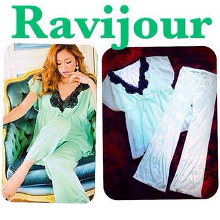 ラヴィジュール(Ravijour)のRavijourサテンシフォンパジャマ(ルームウェア)