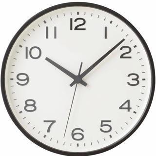 ムジルシリョウヒン(MUJI (無印良品))の新品★無印良品★アナログ時計・大 掛時計・ブラック muji 掛時計(掛時計/柱時計)