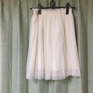 エル(ELLE)のチュールスカート(ひざ丈スカート)