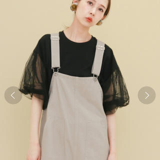 ケービーエフ(KBF)の美品 チュールスリーブ TEE(Tシャツ(半袖/袖なし))