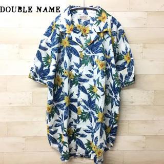 ダブルネーム(DOUBLE NAME)の新品タグ付き♪【Double Name】アロハシャツ(F) 花柄  白(シャツ)
