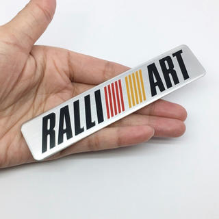 ミツビシ(三菱)の【新品】MITSUBISHI 三菱RALLIARTロゴ 3Dエンブレムステッカー(車外アクセサリ)
