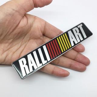 ミツビシ(三菱)の【新品】MITSUBISHI RALLIART 3Dアルミエンブレムステッカー(車外アクセサリ)