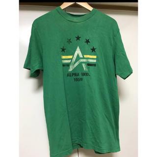 アルファ(alpha)のALPHA アルファ 半袖Tシャツ トップス グリーン系 Mサイズ (Tシャツ/カットソー(半袖/袖なし))