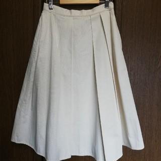 トゥモローランド(TOMORROWLAND)のTOMMORROWLAND  白スカート(ひざ丈スカート)
