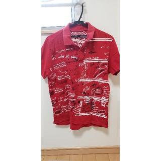 デシグアル(DESIGUAL)のデシグアル Desigual ポロシャツ 赤 レッド L(ポロシャツ)