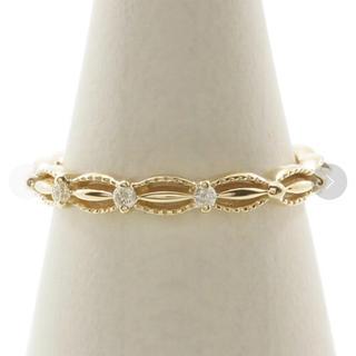 アガット(agete)の美品 アガット ドレスリング ダイヤモンド ピンクゴールド(リング(指輪))