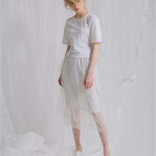 ルシェルブルー(LE CIEL BLEU)の新品 パリンカ スカート チュール ドット(ひざ丈スカート)