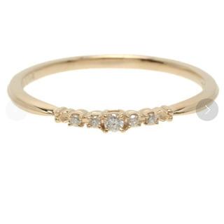 アガット(agete)の美品 アガット ダイヤモンド リング イエローゴールド 販売証明書付き(リング(指輪))