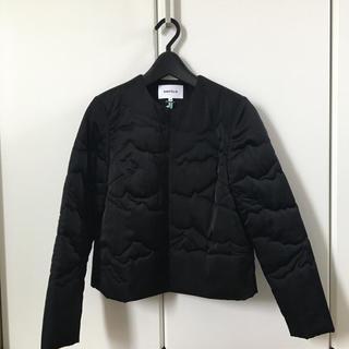 エンフォルド(ENFOLD)のノーカラー 中綿入りジャケット(ノーカラージャケット)