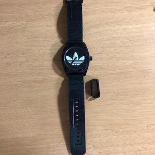 アディダス(adidas)のアディダス 腕時計 adidas ブラック 難あり(腕時計)