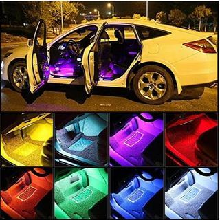7色LED カーインテリア 照明RGBキット インテリア装飾ライト(車内アクセサリ)