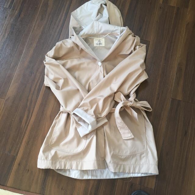 しまむら(シマムラ)のフード付き スプリングコート レディースのジャケット/アウター(スプリングコート)の商品写真