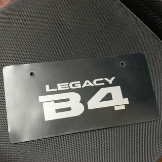 スバル(スバル)のレガシィB4 ナンバープレート(車外アクセサリ)
