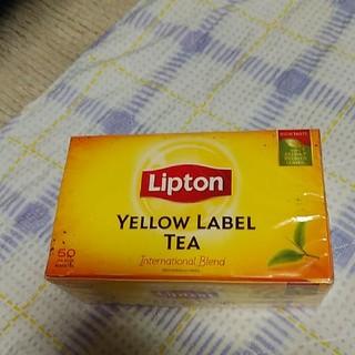 シンガポール土産 紅茶 リプトン イエローラベル 50バッグ(茶)