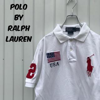 7067f13c360a7 ラルフローレン(Ralph Lauren)のポロバイラルフローレン ポロシャツ 半袖 ビッグポニー 刺繍 星条旗