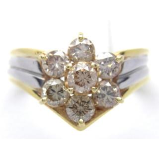 K18 プラチナ ダイヤモンド 1ct リング(リング(指輪))
